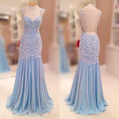 Prom Dresses Real Image New Arrival Sexy Unique Cheap Mermaid Turqoise V-neck Appliques Long Prom Dress Long Formal Evening Dress…