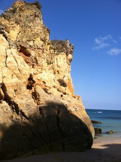 cliffs on the beach in lagos, portugal