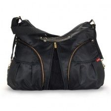 Become a trendsetter carrying this fashionable and functional diaper bag by Skip Hop, featuring a zip-front design that expands for extra storage space. In black. Girl Fashion Style, Baby Girl Fashion, Kids Fashion, Black Diaper Bag, Baby Diaper Bags, Diaper Bag Checklist, New Fashion Clothes, Kids Bags, Online Bags