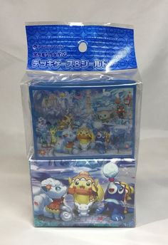 Pokemon Centre Limited Snow Season Deck Box and Sleeves SEALED SET Japanese  #Pokemon