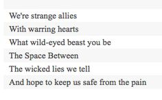 Great lyrics - Dave Matthews, The space between.