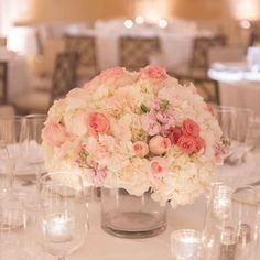 low centerpieces for round tables - Google Search