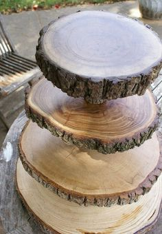 Tiered Pedestal Serving Rounds
