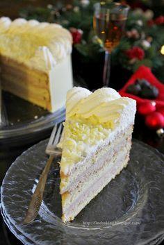 Hazelnut Cake w/ Chestnut Mousse