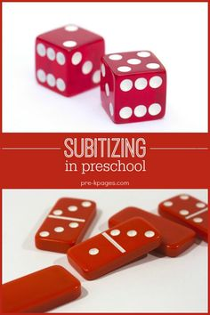Subitizing Skills in Preschool, Pre-K, and Kindergarten Subitizing Activities and ideas for teaching the math concept of subitizing to young children in your preschool, pre-k, or kindergarten class… Subitizing Activities, Math Activities For Kids, Preschool Education, Math For Kids, Math Classroom, Kindergarten Math, Fun Math, Teaching Math, Preschool Activities