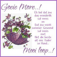 Lekker Dag, Evening Greetings, Goeie Nag, Goeie More, Afrikaans Quotes, Good Morning Quotes, Van, Vans