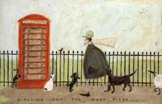 Dialling Out For More Pizza |  Sam Toft