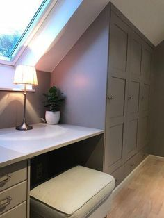 creative-ideas-attic-ideas-finished-attic-stairs-cozy-nook-attic-staircase-libr/ - The world's most private search engine Exposed Beams, Room Design, Loft Conversion, Home, Bedroom Storage, Remodel, Bedroom Design, Bedroom Loft, Loft Room