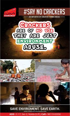 WHY SAY NO TO CRACKERS? REASON 1- POLLUTION #saynotocrackers #pollution #saveenvironment #gogreen #swachhbharatabhiyan #somefacts #ctm #creativethinksmedia TO BE CONTINUED...