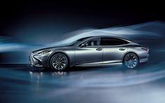 Download wallpapers Lexus LS, 2018, 4k, aerodynamics, luxury sedan, business class, silver LS, new cars, Lexus