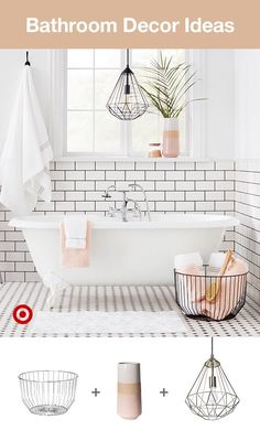 Looking for bathroom ideas? Find organization & decor inspiration for large or small spaces. Rustic, farmhouse and even kid-inspired, redoing the master, full or half bath can be simple & fun. House Bathroom, Bathroom Inspiration, Small Bathroom, Bathroom Decor, Home, Interior Design Living Room, Interior, Bathroom Design, Home Decor