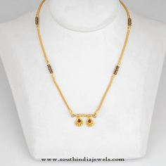 Gold Small Mangalsutra Designs with Price, Short Gold Mangalsutra Models, Gold Small Nallapusalu Designs. Gold Mangalsutra Designs, Gold Earrings Designs, Gold Jewellery Design, Necklace Designs, Ring Designs, Gold Jewelry Simple, Wedding Jewelry, South India, Collections