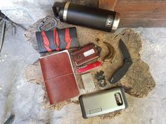 Archaeology students' EDC from Croatia  submitted by Badji  YETI Rambler Bottle - 18  Nite Ize SlideLock Carabiner 2  Unique custom hand made rolling tobacco etui/puch with the Witcher 3 logo  Trayvax Element Wallet  Leather notebook cover  Moleskine Cahier Journal (Set of 3) Pocket Ruled Pebble Grey Soft Cover (3.5 x 5.5)  Raptor Claw amulet - AbricotEDC  Zippo  Victorinox  Spigen Tough Armor Galaxy S8 Plus Case with Kickstand and Extreme Heavy Duty Protection and Air Cushion Technology for…