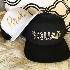 Bride Squad Hats | Bridesmaid Hats | Bachelorette Hats | Bachelorette Party Weekend Ideas