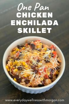 Easy Meal Prep, Healthy Meal Prep, Healthy Eating, Healthy Food, Clean Eating, Chicken Enchilada Skillet, Chicken Enchiladas, Frugal Meals, Quick Meals