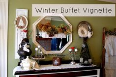 Winter Buffet Vignette - My 1929 Charmer