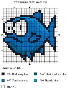 Fish perler bead pattern