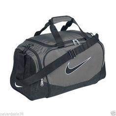 UNISEX DUFFEL BAG GYM GRAY BLACK DUFFLE SMALL NIKE BRASILIA 5 SPORTS NWT SPORT #Nike #DuffleGymBag