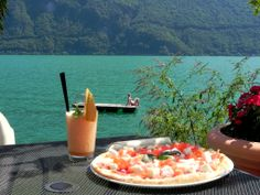 Beach Pizza - The private beach with the Beach Lounge & Pizzeria San Marco  http://www.parco-san-marco.com/en/gastronomy/restaurants/beach-lounge-pizzeria-san-marco/  .   .   . #beach #pizza #san #marco #lake #Lugano