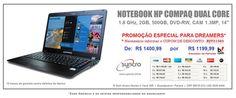 Notebook HP COMPAQ DUAL CORE - ULTRAFINO -  Para ganhar  R$ 201,00,  informe o CUPOM DE DESCONTO: RJY21583     (Preço Especial  p/ Dreamers) (42) 3035-3434 R Dom Alvaro Nunes C Vaca, 520 - Guarapuava-Paraná CEP 85015-310