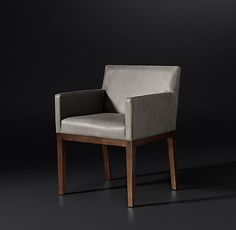 Morgan Track Arm Leather Armchair