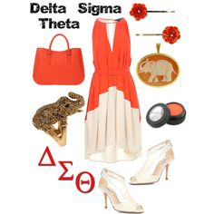 Delta Sigma Theta inspired outfit