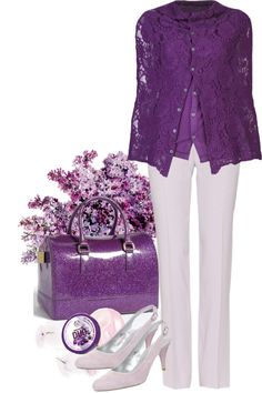 """""""Purple In The End of Year"""" by weeyz ❤ liked on Polyvore"""