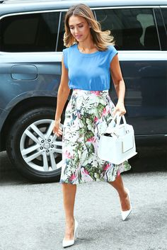 How+To+Wear+A+Full+Skirt:+The+Trend+Your+Favorite+Celebs+All+Love+via+@WhoWhatWear
