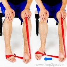 Theraband Turn Outs. Theraband exercises are a great way to strengthen the foot and ankle muscles.