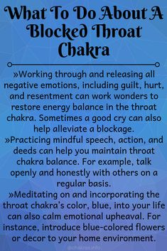 Throat Chakra Blockage A blocked throat chakra can significantly impact your ability to communicate effectively for fear of ridicule and judgement. Chakra Heilung, Chakra Mantra, Reiki Frases, Reiki Quotes, Throat Chakra Healing, Throat Chakra Crystals, Healing Crystals, Chakra Affirmations, Learn Reiki