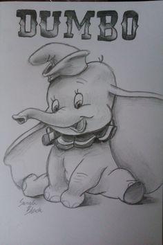 Dumbo by on DeviantArt - Comic Zeichnungen - Disney Disney Character Drawings, Disney Drawings Sketches, Cute Disney Drawings, Cartoon Sketches, Art Drawings Sketches Simple, Easy Drawings, Cartoon Art, Drawing Disney, Disney Pencil Drawings