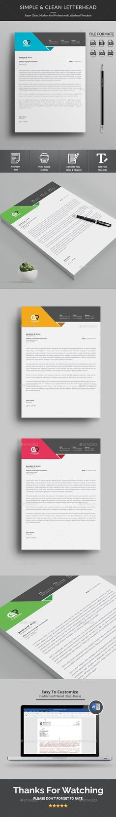Buy Letterhead by Classicdesignp on GraphicRiver. Letterhead Letterhead Template Letterhead Template with super modern and Corporate look. Corporate Letterhead page de. Letterhead Printing, Stationery Printing, Letterhead Design, Letterhead Template, Stationery Templates, Resume Design, Free Flyer Templates, Print Templates, Beauty Tutorials
