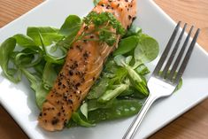 Salmon Salad with Spinach, Dill and Mustard Vinagrette: This salmon salad from restaurateur Ben Pollinger is nutritious and easy to make.