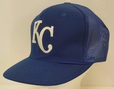 3171e34f578 Kansas City KC Royals Snapback Hat Mesh Baseball MLB Trucker Dad Blue Home  Team  MLB