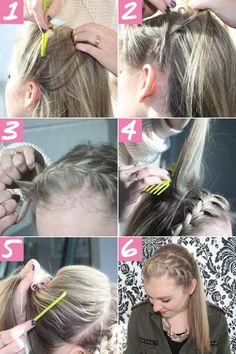 Braided Ponytail Tutorial - Crown Braid Ponytail How To - Seventeen