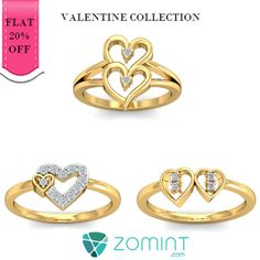 http://zomint.com/jewellery/diamond-jewellery/rings.html Valentine collection with special offer of Flat 20%. Couponcode: VALENTINE #zomint #valentinegifts #rings