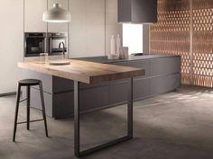 Cucine Obliqua - Cucine Moderne di Design - Ernestomeda - Flora's Home Luxury Kitchen Design, Best Kitchen Designs, Luxury Kitchens, Cool Kitchens, Italian Kitchens, Grand Kitchen, Rustic Kitchen, New Kitchen, Kitchen Decor