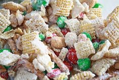 White Chocolate Christmas Chex Mix