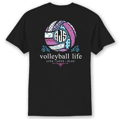 Volleyball Life Custom Monogram T-Shirt #volleyball #volleyballproblems…