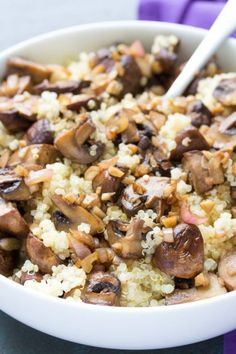 Balsamic Garlic Roasted Mushrooms and Quinoa Recipe » BudgetMeals.info