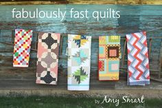 Fabulously Fast Quilts by Amy Smart + tons of great tips and tricks for new quilters
