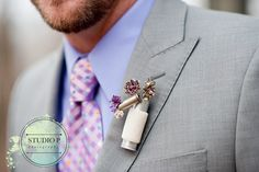 Boutonniere The Ritzy Rose Bullet Boutonniere, Shotgun Shell Boutonniere, Diy Boutonniere, Wedding Men, Wedding Blog, Our Wedding, Wedding Ideas, Wedding Stuff, Dream Wedding