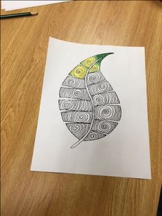 Pendleton Public Library Adult & Teen Coloring Club! Mary printed some nice Autumnal things to work on.