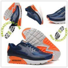 separation shoes bb555 d6661 Tendance   Nike Chaussure Sport Air Max 90 2016 Femme Dragon Bleu Marine Air  Max 90
