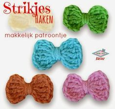 Atelier Bonita-loka: Schattige strikjes haken http://bonita-loka.blogspot.nl/2015/03/schattige-strikjes-haken.html