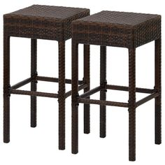 Best Choice Products Outdoor Furniture Set of 2 Wicker Backless Bar Stools Dual Tone Brown >>> You can get additional details at the image link. (This is an affiliate link) Wicker Bar Stools, Outdoor Bar Stools, Wicker Baskets, Outdoor Chairs, Outdoor Wicker Furniture, Patio Furniture Sets, Outdoor Tiki Bar, Tiki Bar Decor, Indoor Bar
