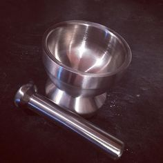 """One piece of equipment that has never found its way into my kitchen was a Mortar and Pestle.  But I decided to pick up this heavy stainless steel beauty to get that perfect """"crush"""" on fresh peppercorns. And man does it work beautifully.  Yummery - best recipes. Follow Us! #kitchentools #kitchen"""