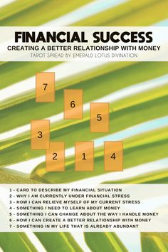Image result for Creating a Better Relationship with Money tarot spread