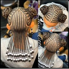 Braids for Kids - 100 Back to School Braided Hairstyles for Kids in 2020 Toddler Braided Hairstyles, Toddler Braids, Black Kids Hairstyles, Girls Natural Hairstyles, Baby Girl Hairstyles, African Braids Hairstyles, Natural Hair Styles, Protective Hairstyles, African Hairstyles For Kids