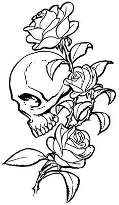 Something like this...minus the roses, add venus fly traps, and perhaps the skull a little bigger and fierce. Can't wait to start getting this rib piece started :-)